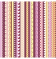 Decorative seamless pattern with vertical stripes vector image