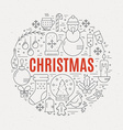 Christmas concept vector image vector image