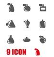 grey perfume icon set vector image vector image