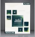 business brochure flyer design vector image