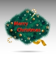 Christmas decorative label vector image