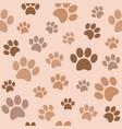seamless paw pattern flat design vector image