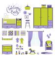 Set Baby room vector image