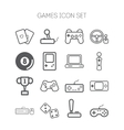 Set of simple icons for video games controllers vector image
