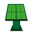 solar panel green energy icon vector image