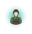 Soldier comics icon vector image