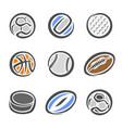 sports equipment ball vector image