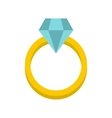 Womens wedding ring icon flat style vector image
