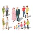 Family Generations Cartoon Set vector image vector image