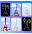 set of cards with eiffel tower vector image vector image
