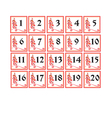 russian number cards vector image