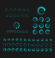 futuristic progress loading bar set of indicators vector image