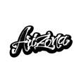 Arizona sticker modern calligraphy hand vector image