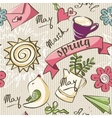 Seamless texture - the color of spring doodles vector image