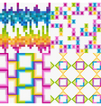 vector set of abstract colorfu vector image vector image
