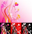 heart vines vector image