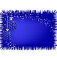 image of christmas blue balls vector image
