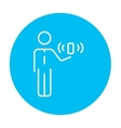 Mobility line icon vector image