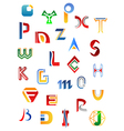 Set of full alphabet symbols vector image vector image