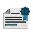 diploma of educational graduation vector image