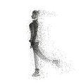 female ice skater silhouette made of particles vector image