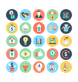 Finance Flat Icons 5 vector image