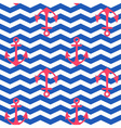 Geometric seamless nautical pattern with anchors vector image
