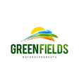 Green Field Logo vector image