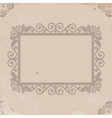 Old worn texture with pattern frame vector image