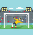 soccer goalkeeper on stadium concept flat style vector image