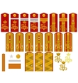 Insignia of the Russian Imperial Army vector image vector image
