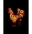 Khokhloma New Yaer Rooster vector image