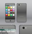 Smoke grey modern touchphone gadget vector image