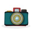 Retro cartoon camera vector image