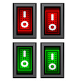 rectangle toggle power switches vector image