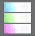 Banners set for business modern background design vector image