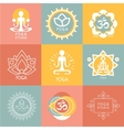 Set of Yoga and Meditation Symbols vector image