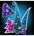 stylish paper christmas trees vector image vector image