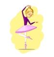 Beautiful ballerina girl dancing vector image