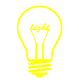 bulb light yellow vector image