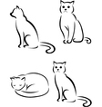 cat tattoo collection vector image vector image