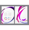 Abstract modern bright multicolored flyer vector image