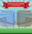 College Football Playoffs vector image