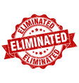 Eliminated stamp sign seal vector image