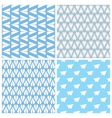 Paper Planes Seamless Pattern Set Four Repeating vector image