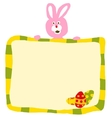 Pink Easter Rabbit With Sign vector image