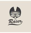 racer head vintage vector image