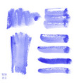 set of violet purple watercolor hand painted vector image
