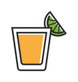 shot served with lime vector image