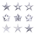 Silver stars vector image